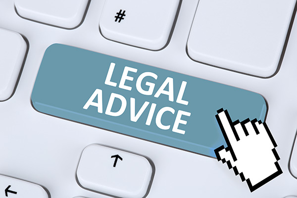 Graphic of mouse pointer over a keyboard with a key labelled Legal Advice